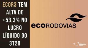 Resultado Ecorodovias (ECOR3) para o 3T20