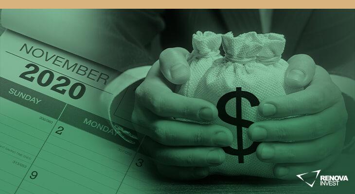 Veja as ações selecionadas para Novembro que pagam dividendos