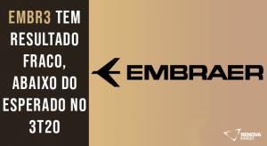 Resultado Embraer (EMBR3) para o 3T20