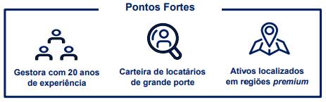 FII Rio Bravo Renda Corporativa (RCRB11) Pontos Fortes