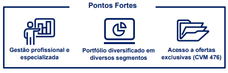 FII BTG Pactual Fundo de Fundos (BCFF11) Pontos Fortes