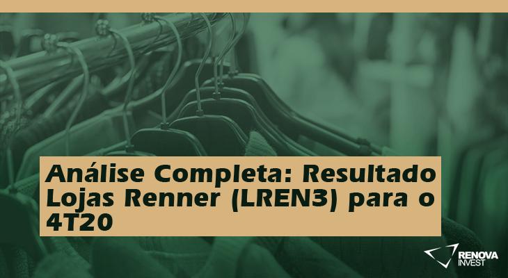 Análise Completa: Resultado Lojas Renner (LREN3) para o 4T20