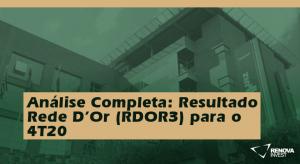 Análise Completa: Resultado Rede D'Or (RDOR3) para o 4T20