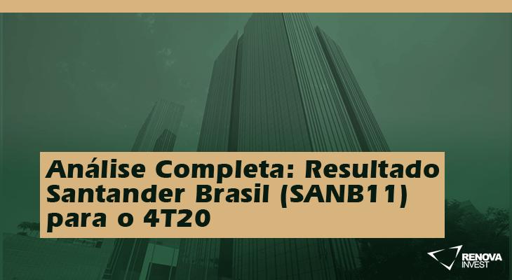 Análise Completa: Resultado Santander Brasil (SANB11) para o 4T20