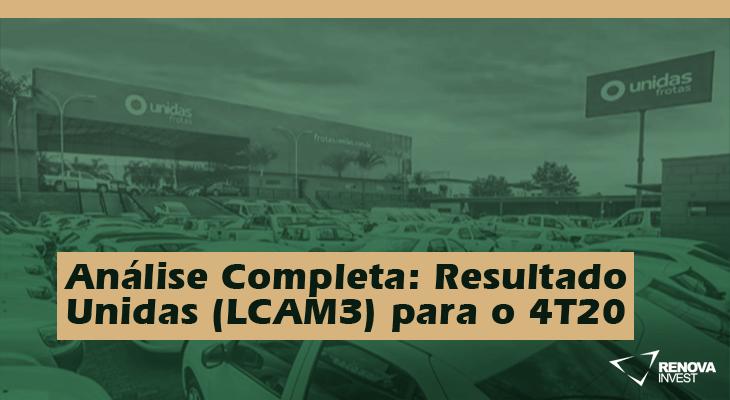 Análise Completa: Resultado Unidas (LCAM3) para o 4T20