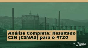 Resultado CSN (CSNA3) para o 4T20