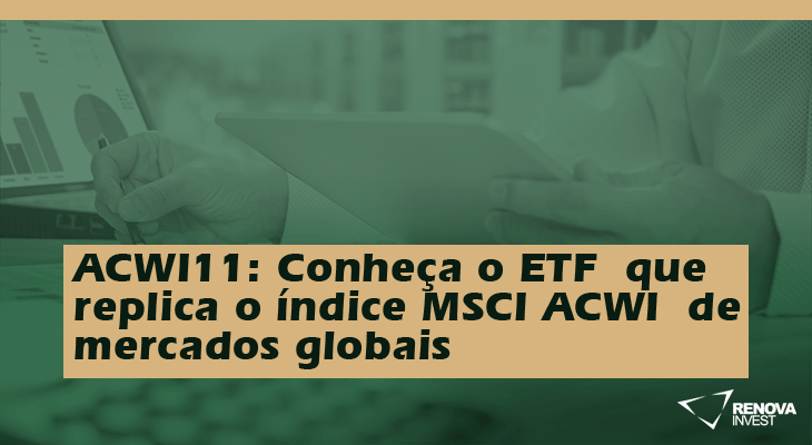 ACWI11: Conheça o ETF que replica o índice MSCI ACWI.