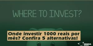 Onde investir 1000 reais por mês? Confira 5 alternativas!